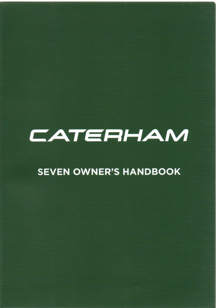 Caterham owners handbook